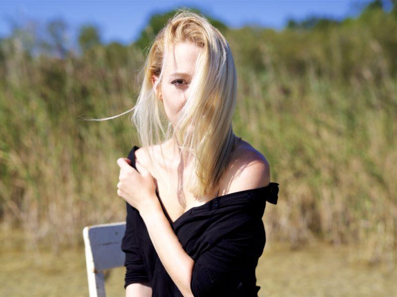 Portrait, sexy, blonde