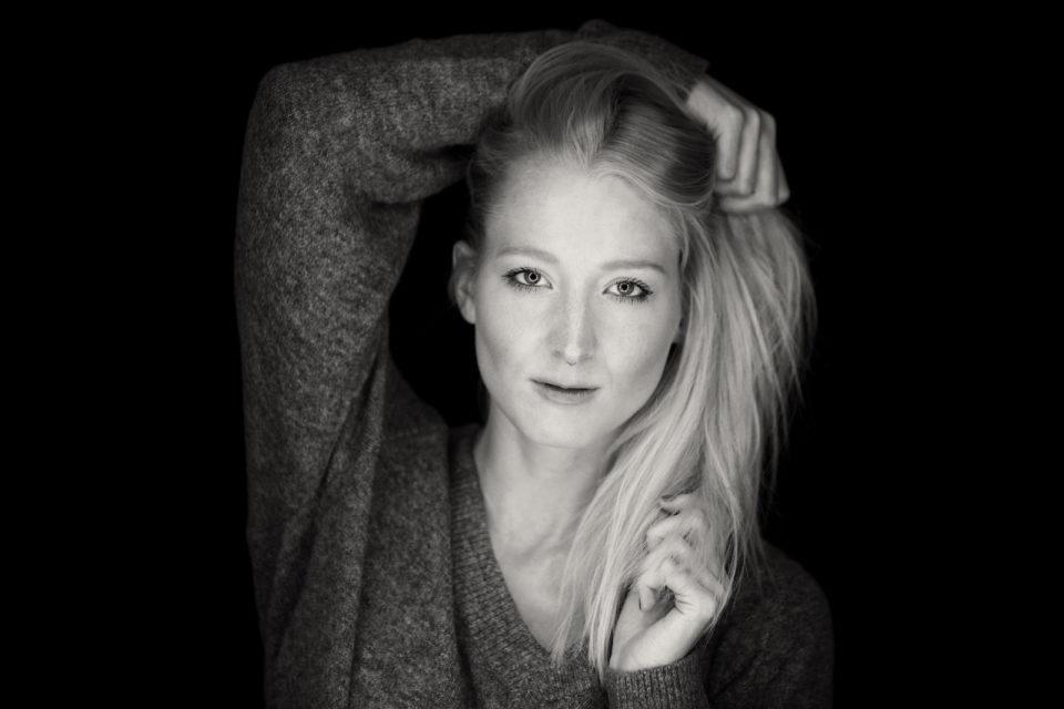 portrait model black and white