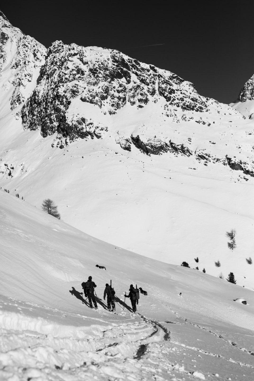 Jäger im Schnee
