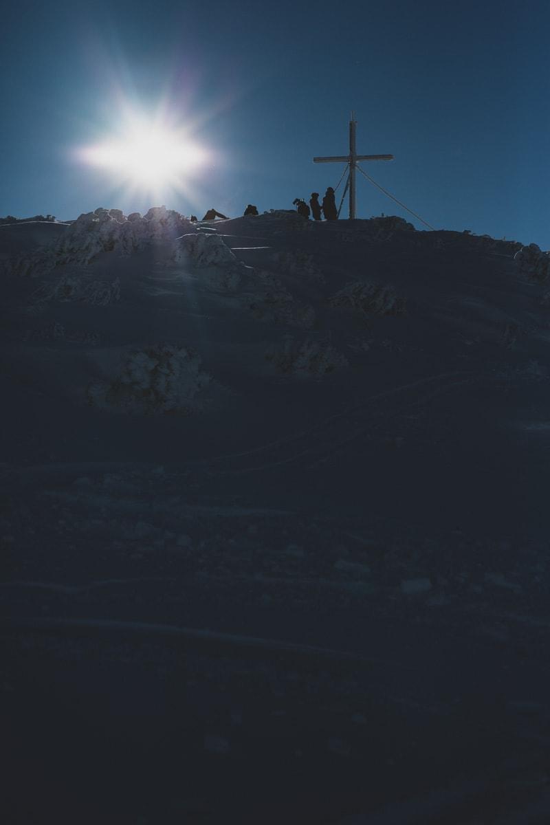 Gipfelkreuz Steinplatte
