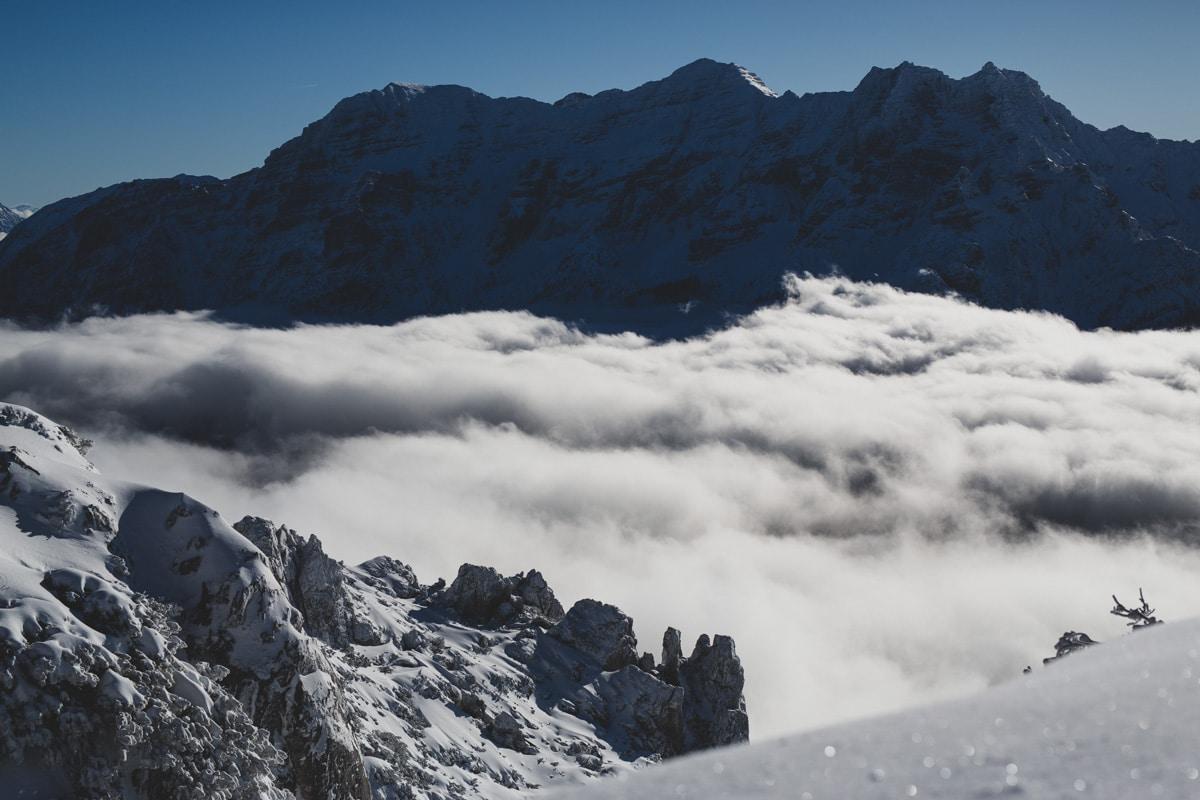 Bergpanorama Wolken