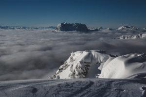 Steinplatte Winter Wolkenmeer