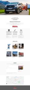 Screenshot komplette Website Meindl Arbeitsbühnen